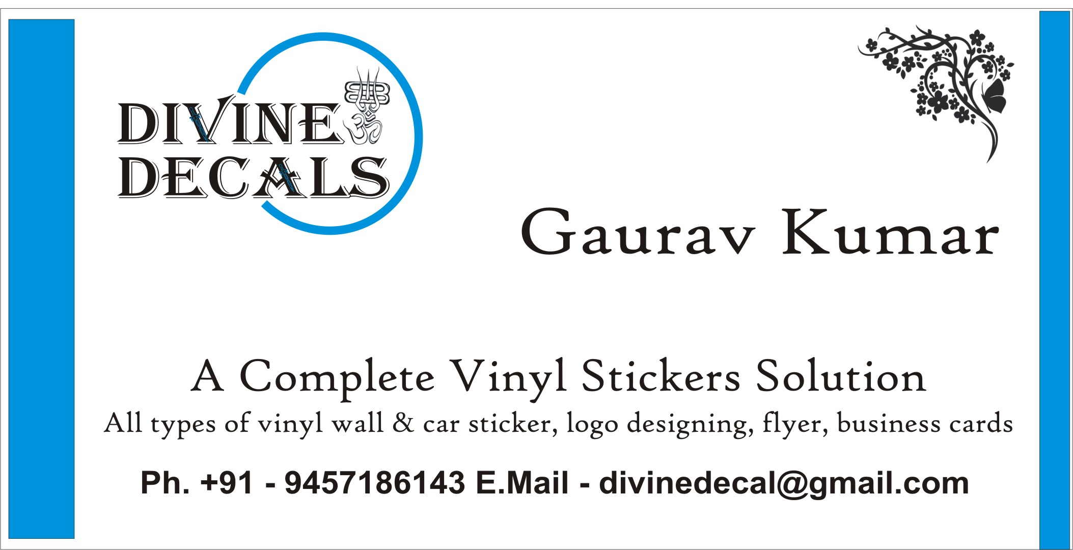design a logo, visiting cards, flyers, vinyl stickers
