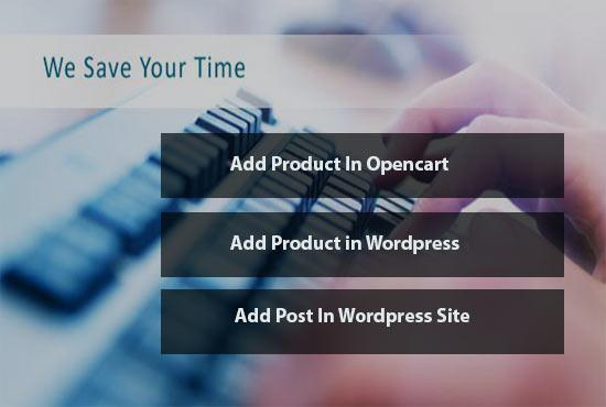 do data entry work in wordpress and opencart
