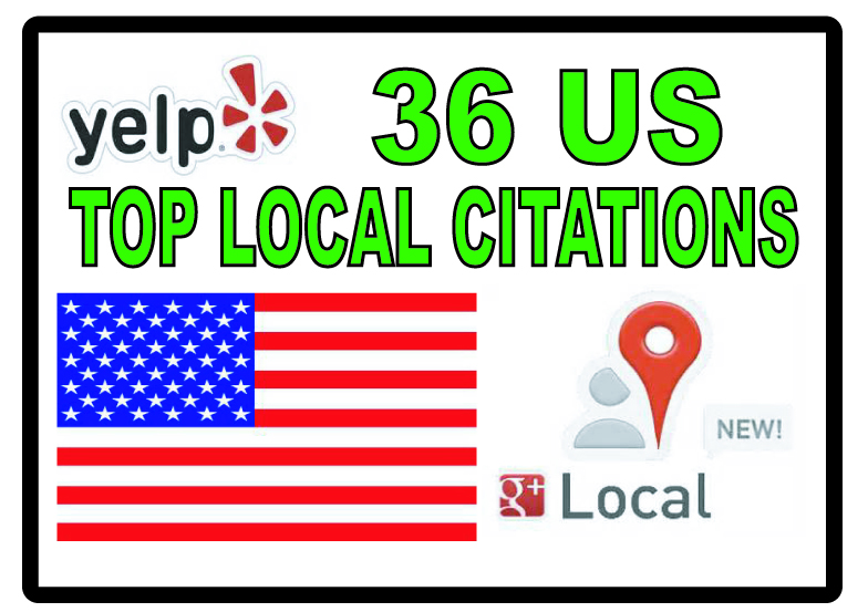 submit your business details to 36 top US Citations sites to boost your  Google+ ranking
