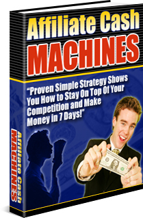 send you affiliate cash machines book with master resell rights