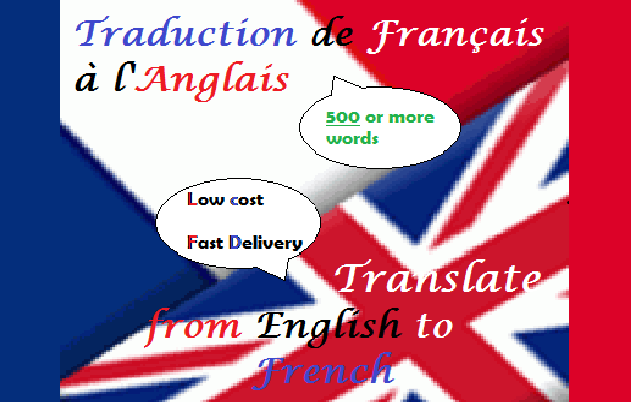 Translate any text from French to English or vice versa