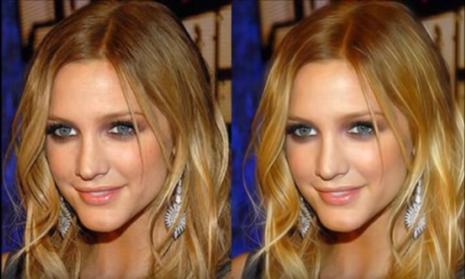 retouch less than  3 human faces
