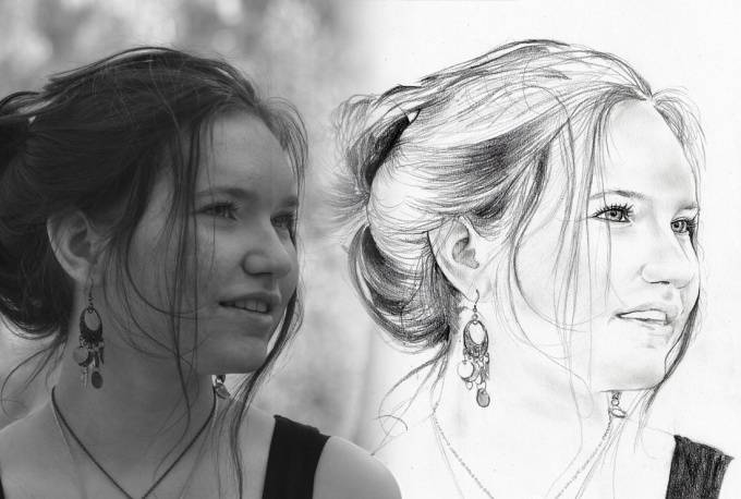 draw you a realistic style traditional art portrait