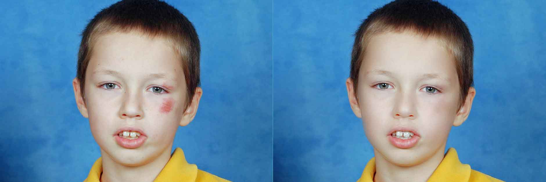 Retouch professionally 2 images
