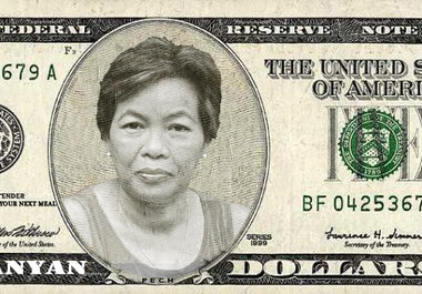 put your face on money