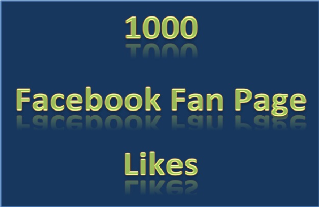 give you 1K Facebook Fan page likes
