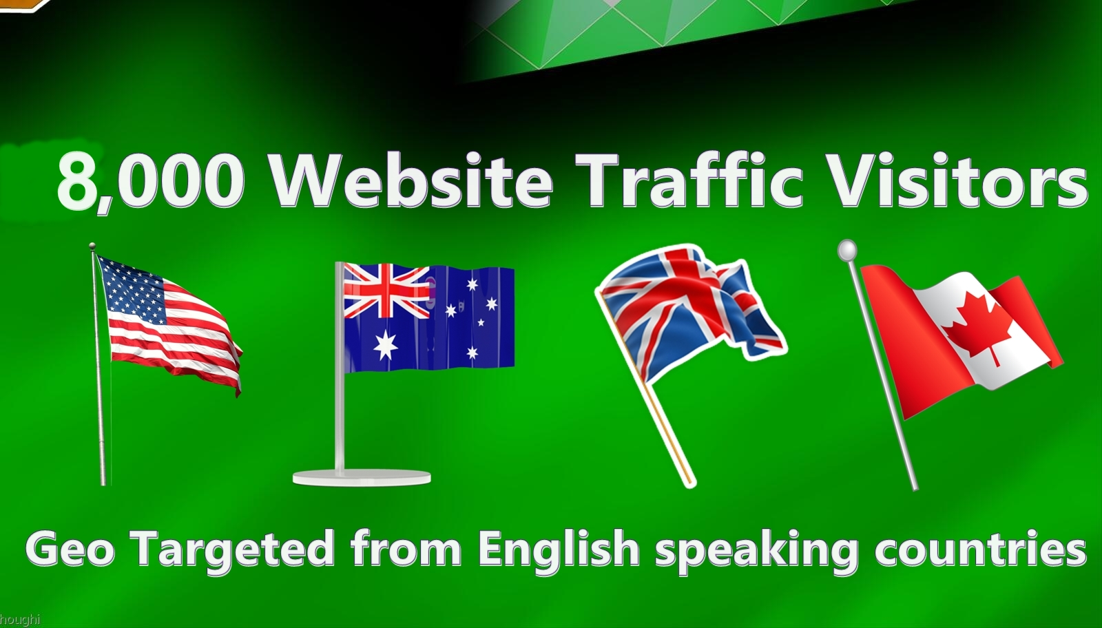 8000 visitors from English speaking countries