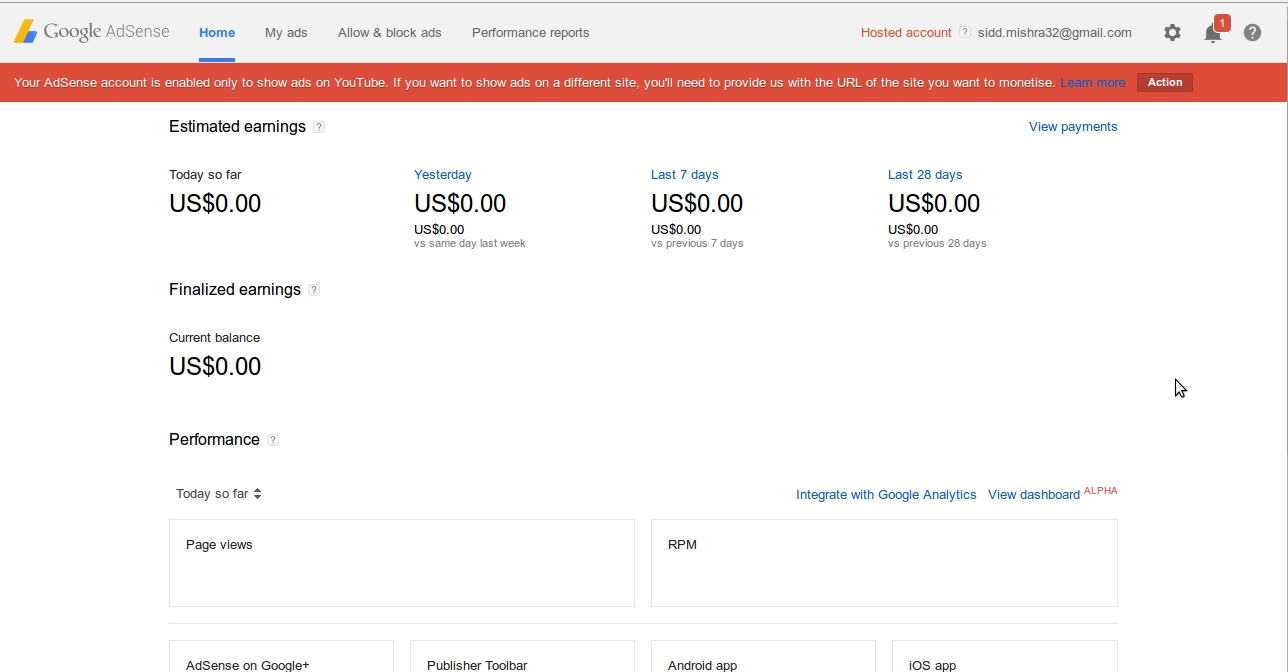 create a Fully Approved You Tube Hosted Google Adsense Account