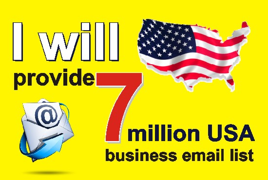 provide 7 million USA business email list