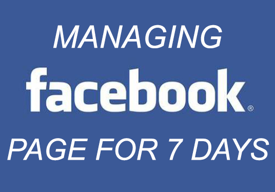 Manage Your Facebook Page for 7 Days