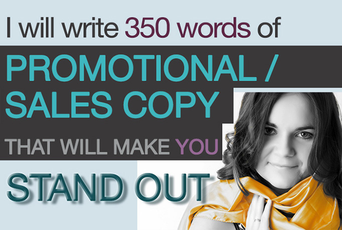 write 350 words of persuasive Promo, Sales Copy