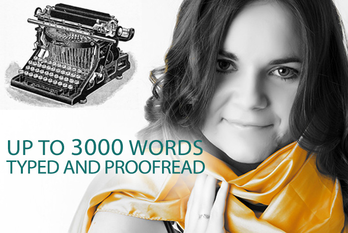 type and proofread up to 3000 words