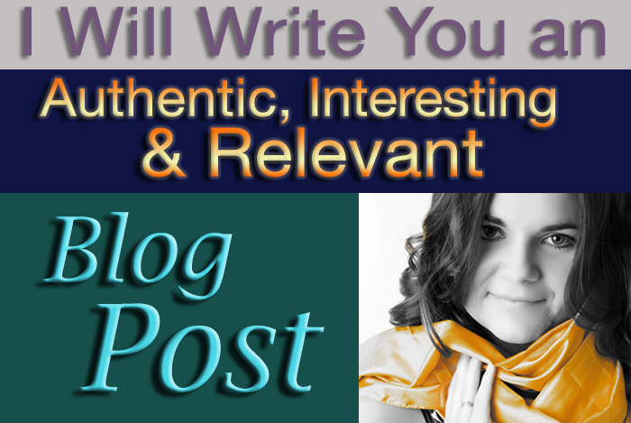 write an authentic interesting and relevant blog post