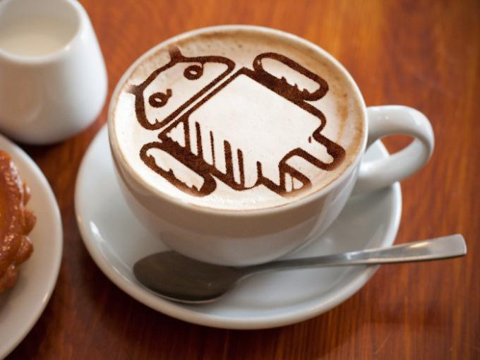 draw you a picture or logo in a coffee cup