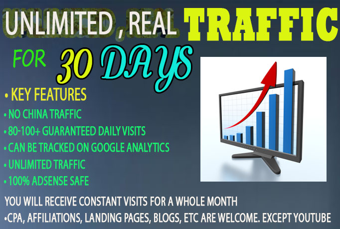 drive real UNLIMITED Website TRAFFIC to your website for 150 days