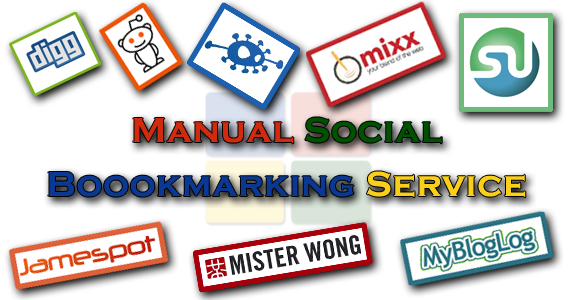MANUALLY Bookmark your site to TOP 15 Social bookmarking sites