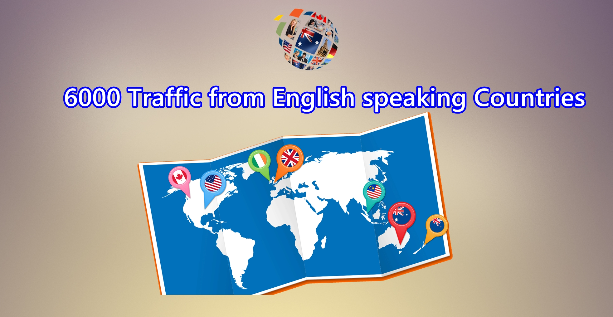 send Send 6000 visitors from English speaking countries