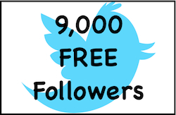 Give you 9,000 FREE Twitter Followers - ABSOLUTELY FREE - NO Exchanges - NO Need to Follow ANYONE