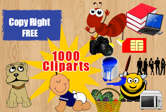 give my private collection of 1000 cliparts