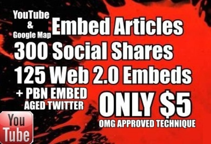 Embed Video or Google Map on 311 Social, 125 Web 2.0 Syndwire + PBN EMBED