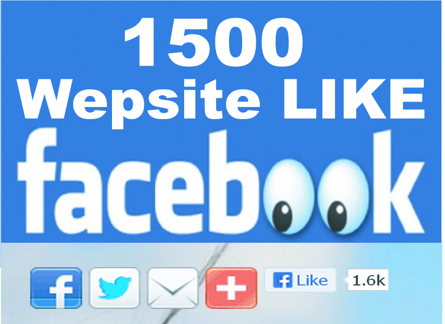 give you 1500+ Facebook Websites Likes [No Fan Page]