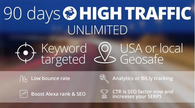 90 Days UNLlMITED Traffic, Targeted and Safe