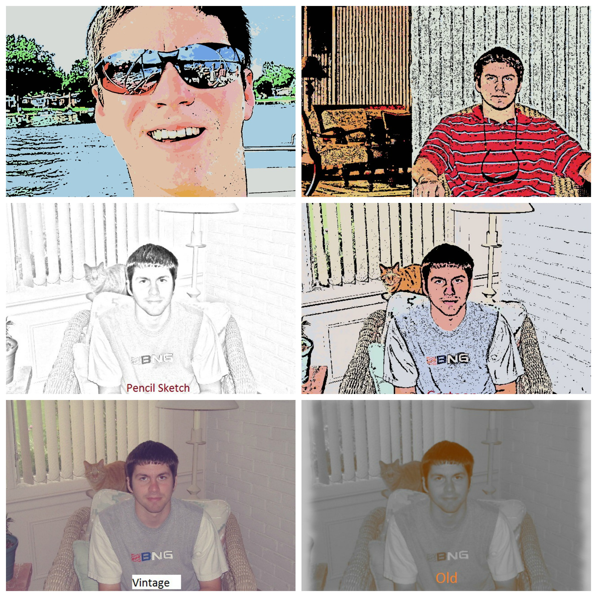 create various effects for photos of your choice