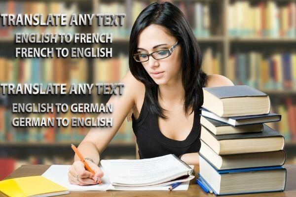 Translate 700 words from English To French and Vice Versa