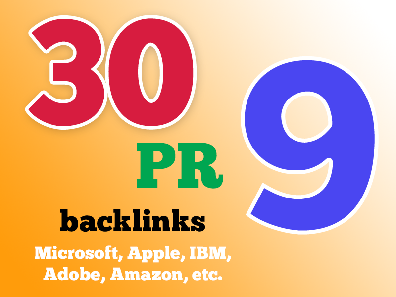 boost your Google Rankings with 30 PR9 High Pr Seo Social Backlinks