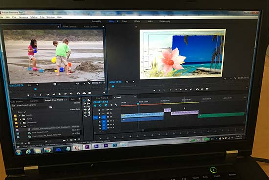 create an awesome beach themed video slideshow