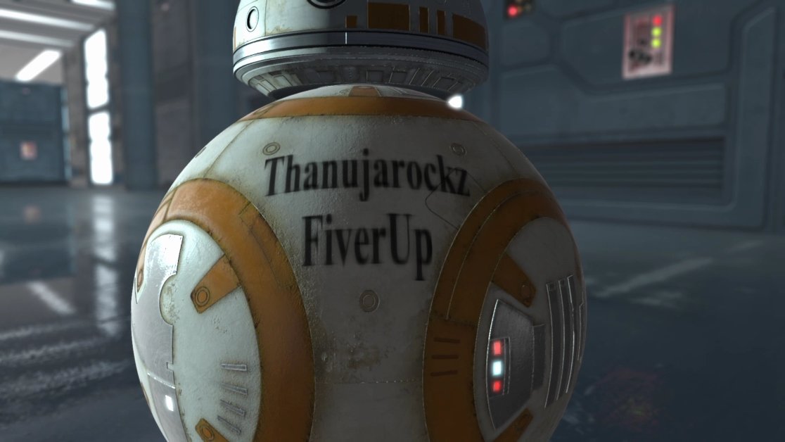 promote your logo using star wars BB 8 Robot