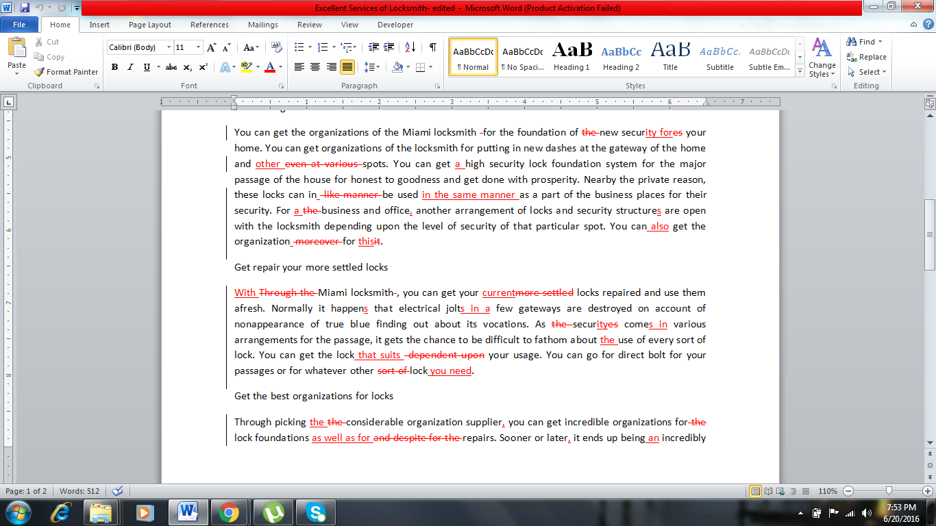 write proofread 4000 words