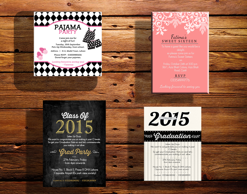 design a beautiful invitation for any event