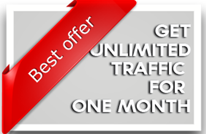 send unlimited traffic through google for a month