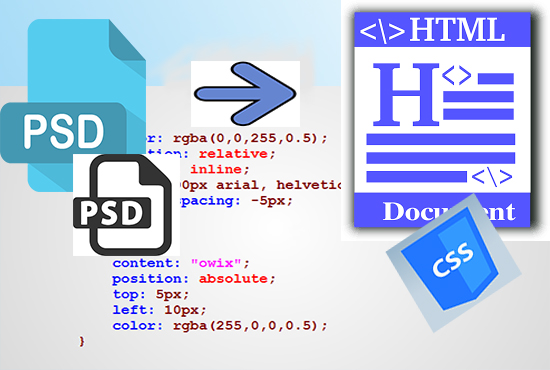 convert psd to responsive html css and psd to wordpress