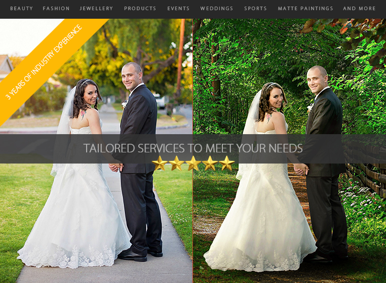 Provide you with high-end Photo Editing Services