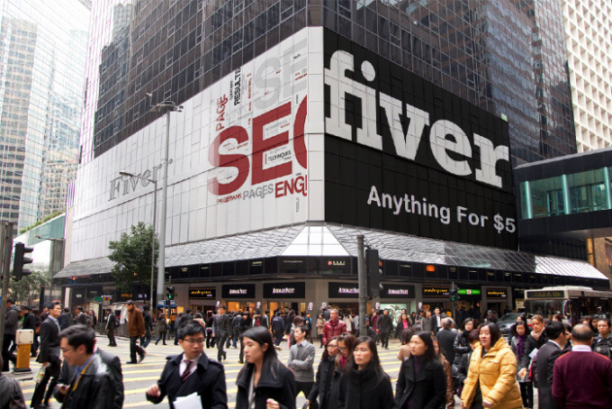 put your logo or photo on 25 billboards at famous places