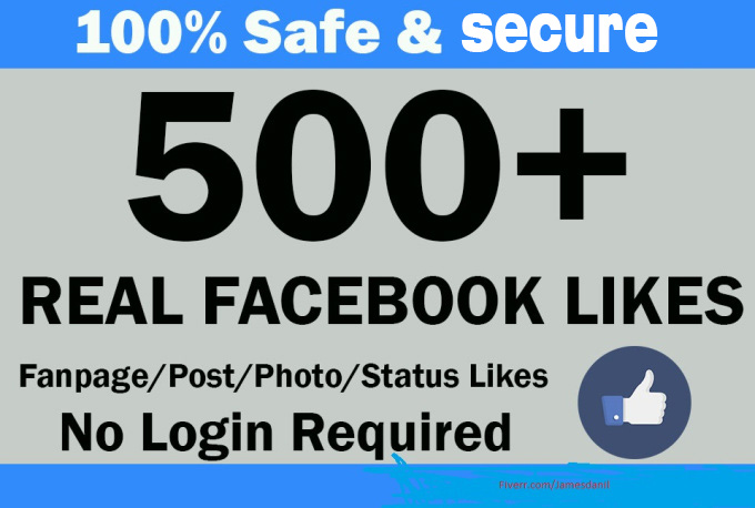 add Real 550+ Facebook Fanpage and posts likes
