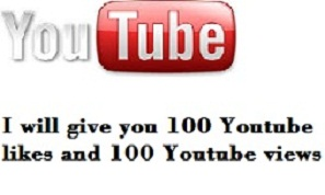 give you 100 youtube likes and 100 youtube views