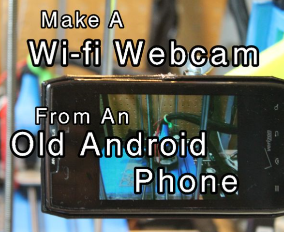 show you how to Make A Wifi Webcam From An Old Android Phone