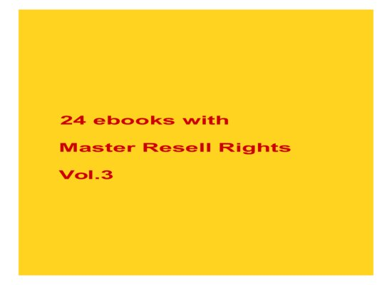 give 24 ebooks with MRR Vol.3