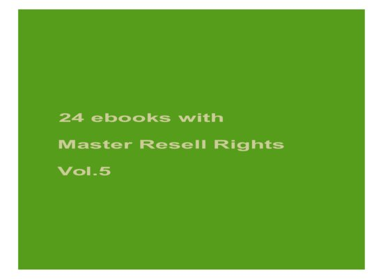 give 24 ebooks with MRR Vol.5