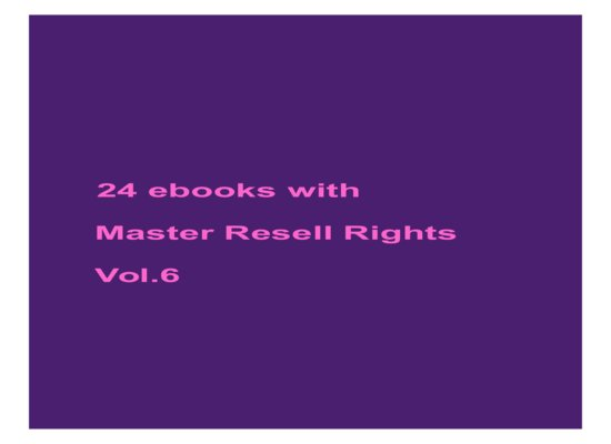 give 24 ebooks with MRR Vol.6
