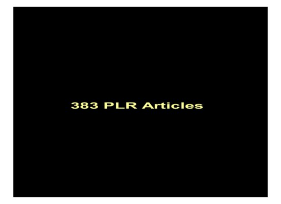 give 383 PLR Articles