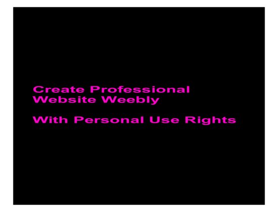 give Create Professional Website Weebly