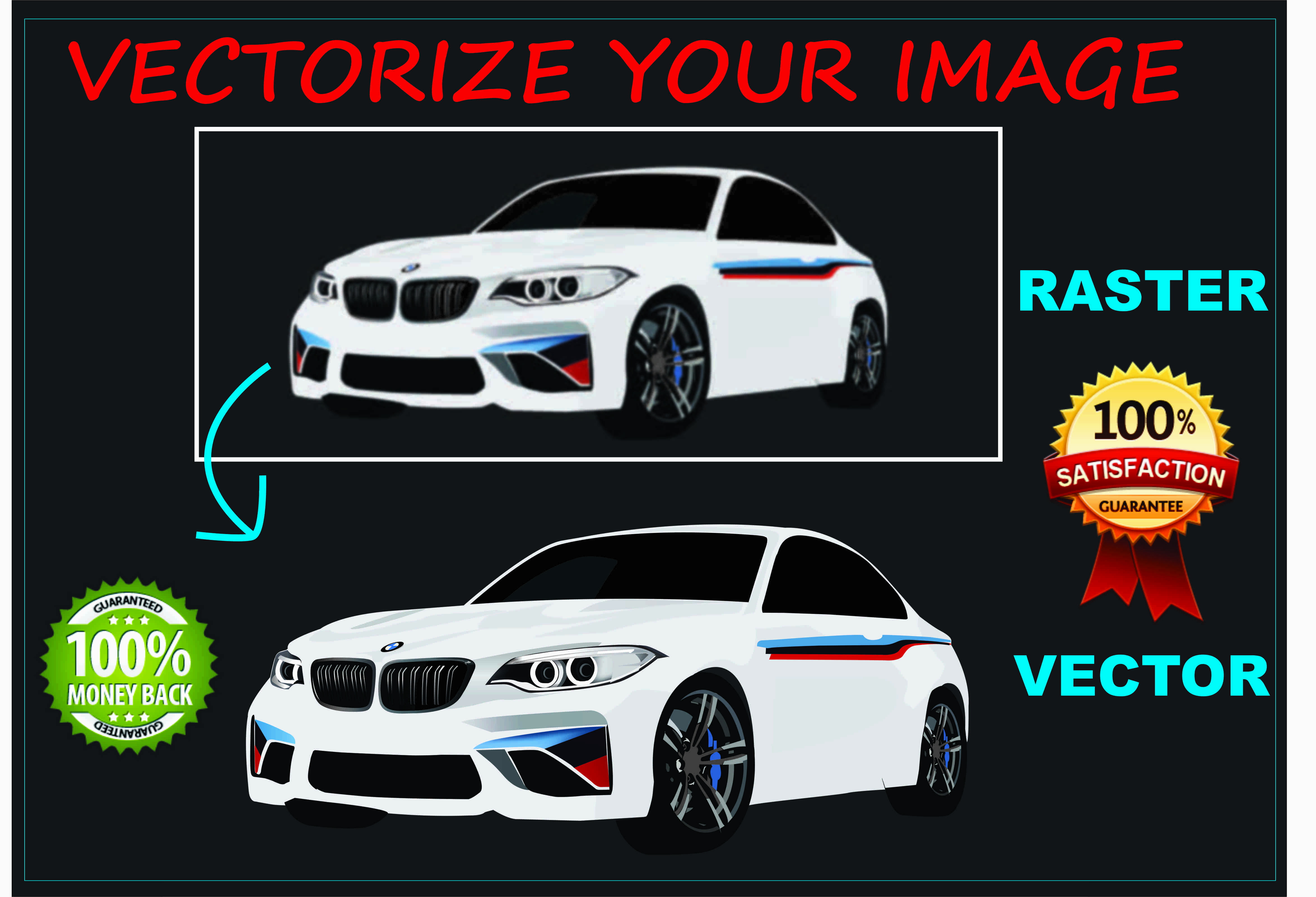Vectorize your image or logo within 24 hours