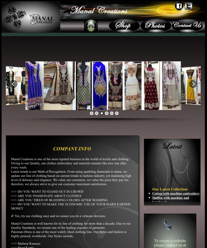 create professional and sophisticated webpage