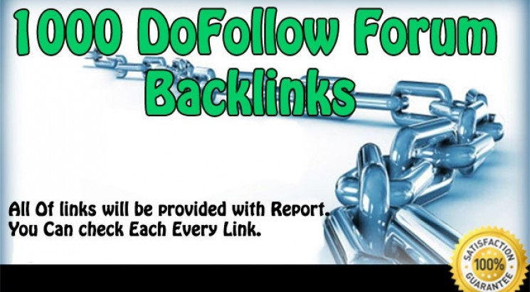 create 1200 forum dofollow backlinks to get loads of traffic for