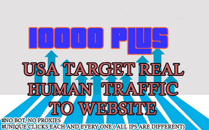 drive 10000 usa target website traffic and it is Real and safe
