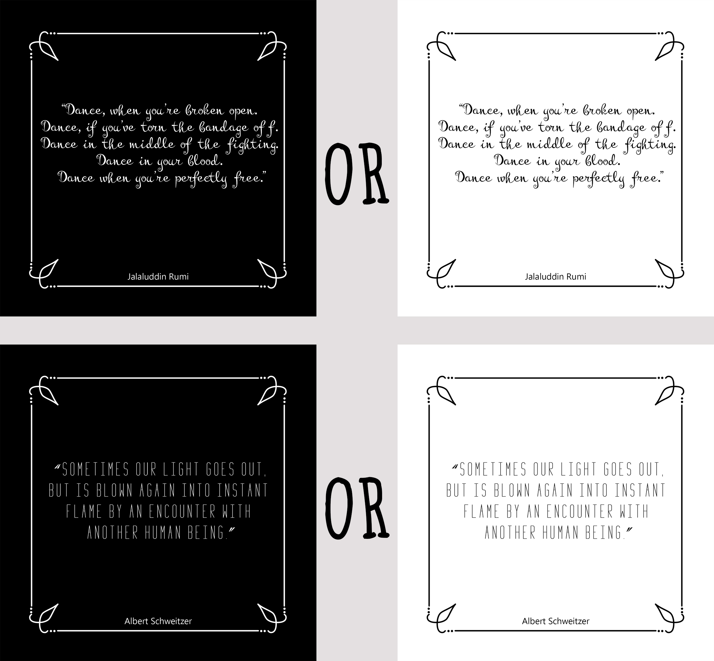 give you 101 inspirational quotes black OR white